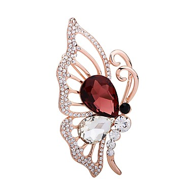 Women's Brooches / Scarf Buckle - Rhinestone Butterfly, Animal Fashion Brooch Champagne For Party / Going out