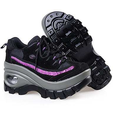 Rouge Chaussures 06196107 Chaussures Creepers Noir Automne Femme Hiver cross et Confort training Rose Daim d'Athlétisme Fitness WgFnA4Hqw