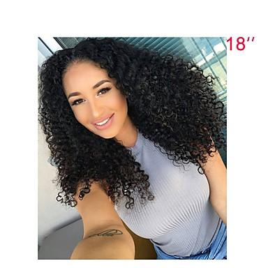 Emberi haj Csipke eleje Paróka Brazil haj Kinky Curly Paróka 130% Természetes hajszálvonal Női Rövid / Közepes / Hosszú Emberi hajból készült parókák / Kinky Göndör