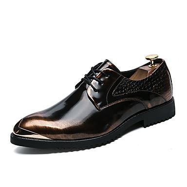 Férfi Formális cipők Bőr Ősz / Tél Félcipők Arany / Fekete / Ezüst / Esküvő / Party és Estélyi / Ruha cipő