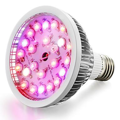 1PC 18 W 100-150 lm E26 / E27 تزايد ضوء اللمبة 24 الخرز LED طاقة عالية LED أبيض دافئ / أبيض / أحمر 85-265 V / قطعة / بنفايات / FCC