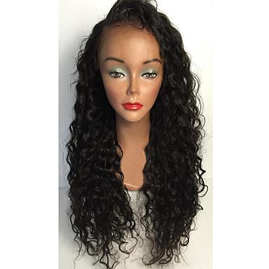 Emberi haj Csipke korona, szőtt / Csipke Paróka Brazil haj Göndör Paróka Réteges frizura / Tincselve 130% Ombre haj / Természetes hajszálvonal / Afro-amerikai paróka Női Rövid / Közepes / Hosszú