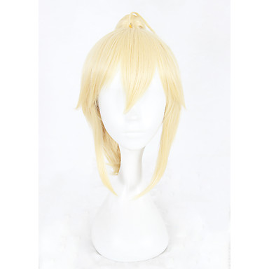 Synthetic Wig kinky Straight Blonde With Ponytail Synthetic Hair Braided Wig Blonde Wig Women's Short Capless