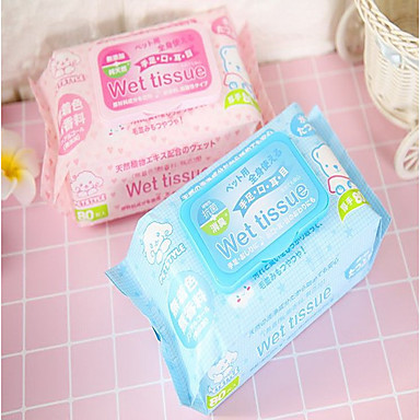 Cat / Dog Cleaning Wipes Portable / Protective Blue / Pink