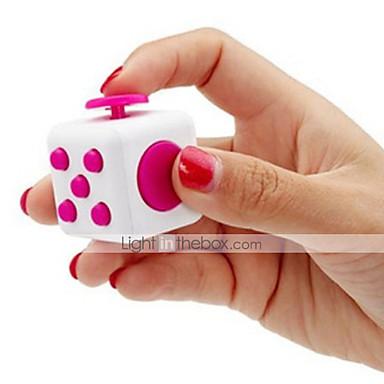 billige Spill og gåter-Fidgetleker Fidgetkube Magiske kuber Pedagogisk leke Stresslindrende leker Nyhet Silikon Gummi Plast Deler Gutt Barne Voksne Gave