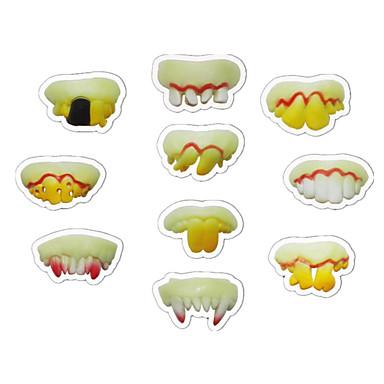 hesapli Oyuncaklar ve Oyunlar-Buck Teeth Şakalar Pratik Şaka Gereçleri Hafif Oyuncaklar Yenilik Tatil Diş Aydınlatma Karanlıkta Parlayan Florasan Plastikler Genç Oyuncaklar Hediye 10 pcs / Gece Parlayan / Mutlu & Gönülsüz