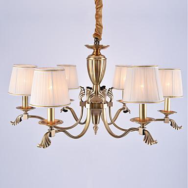 6-Light Chandelier Ambient Light - Mini Style, 110-120V / 220-240V Bulb Not Included / 30-40㎡ / E12 / E14