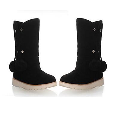 Hiver Confort Chaussures Bottine Marron Bottes Bottes Talon 06249716 Demi neige Automne Plat Femme Gland rond Botte Nouveauté Daim Bout de dFtqqSI