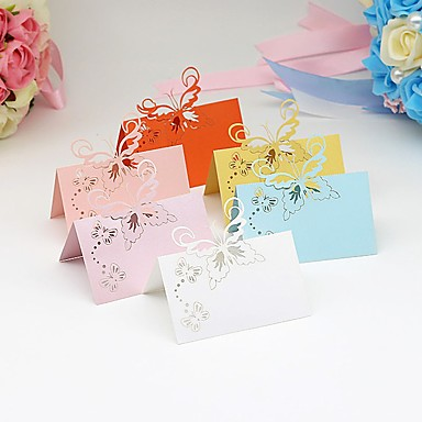 Material Card Paper Table Center Pieces - Personalized Placecard Holders Others Tables 40 All Seasons