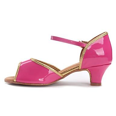 Latin cipők TPU / Lakkbőr / Bőrutánzat Szandál / Magassarkúk Csat Vaskosabb sarok Személyre szabható Dance Shoes Rózsaszín / Gyakorlat