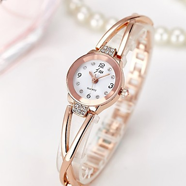 cheap Diamond Watches-Women's Ladies Wrist Watch Diamond Watch Gold Watch Quartz Stainless Steel Silver / Rose Gold Water Resistant / Waterproof Chronograph Creative Analog Charm Sparkle Casual Bangle Fashion - Silver