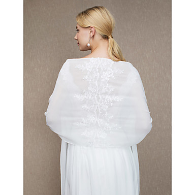 Chiffon Wedding / Party / Evening Women's Wrap With Appliques Shawls