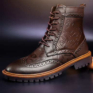 Men's Bootie Cowhide Fall / Winter Boots Booties / Ankle Boots Black / Brown
