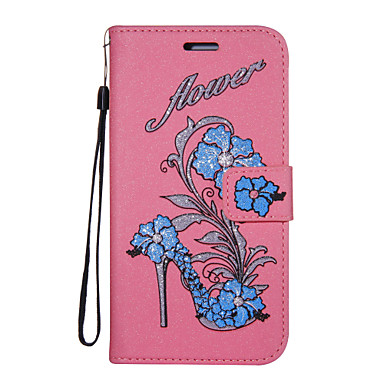 Case For Nokia Wallet / Card Holder / with Stand Full Body Cases Glitter Shine / Flower Hard PU Leather for Nokia 6 / Nokia 5 / Nokia 3
