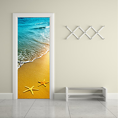 Door Stickers - 3D Wall Stickers Famous / Landscape / 3D Living Room / Bedroom / Study Room / Office