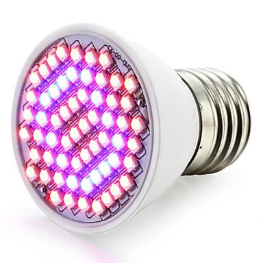 1500-1800lm E27 Growing Light Bulb 60 Cuentas LED SMD 3528 Azul Rojo 85-265V