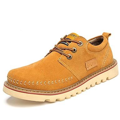 Férfi cipő Fordított bőr / Bőr Nyár / Ősz Kényelmes / Formai cipő Tornacipők Sötétkék / Szürke / Sárga