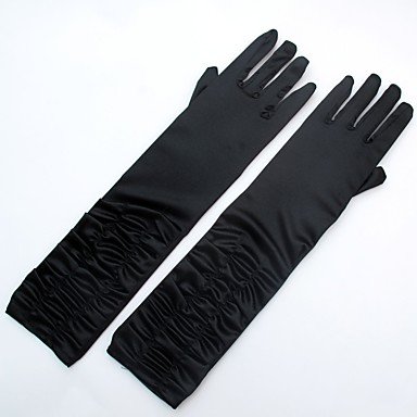 Spandex Fabric Elbow Length Glove Classic Style / Bridal Gloves / Party / Evening Gloves With Ruffles