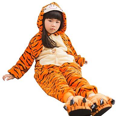 Barn Kigurumi-pyjamas Tiger Onesie-pyjamas Flanelltyg Cosplay För Pojkar  och flickor Pyjamas med 189747b7c67e7