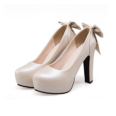Chaussures Chaussures Automne Talons Femme à Nouveauté Polyuréthane Bottier Printemps Noeud Bout Bleu Beige rond Confort 06224152 Talon wYUnqgU