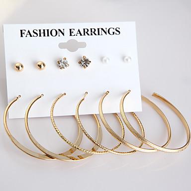 Női Gyöngyutánzat Beszúrós fülbevalók / Francia kapcsos fülbevalók - Divat Arany / Ezüst Circle Shape Fülbevaló Kompatibilitás Napi