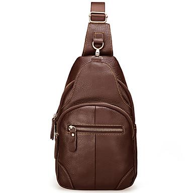 fc81d57f1567 Men's Bags Cowhide Sling Shoulder Bag Zipper Black / Coffee / Brown