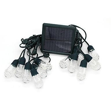 1set 5 W LED napelemes világítás Újratölthető Több színű <5 V Esküvői színhely díszítés / Karácsonyi dekoráció Favor / Lakberendezés 12 LED gyöngyök
