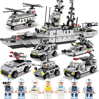 SHIBIAO Building Blocks 1090pcs Classic Nautical / Military / Warship DIY Contemporary / Classic & Timeless / Chic & Modern Aircraft