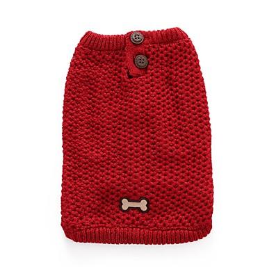Cica Kutya Kabátok Pulóverek Karácsony Kutyaruházat Merevítés Piros Kék Spandex Cotton/Linen Blend Jelmez Háziállatok számára Party