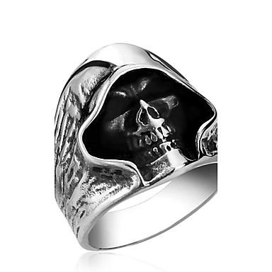 Férfi Rozsdamentes acél Mások - Személyre szabott / Divat Ezüst Gyűrű Kompatibilitás Napi / Hétköznapi