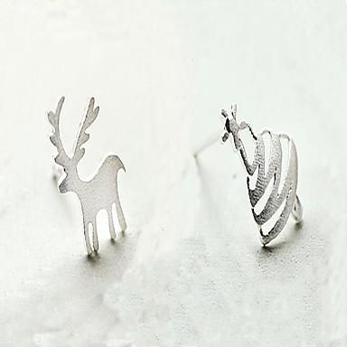 Női Ezüst Rendhagyó fülbevalók - aranyos stílus / Karácsony Ezüst Állat Fülbevaló Kompatibilitás Karácsony / Hétköznapi