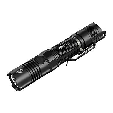 رخيصةأون المصابيح اليدوية وفوانيس الإضاءة للتخييم-Nitecore P12GT LED Flashlights LED CREE® XP-L HI V3 1 بواعث 1000 lm 7 إضاءة الوضع تكتيكي ضد الماء Impact Resistant Camping / Hiking / Caving Everyday Use Police / Military أسود