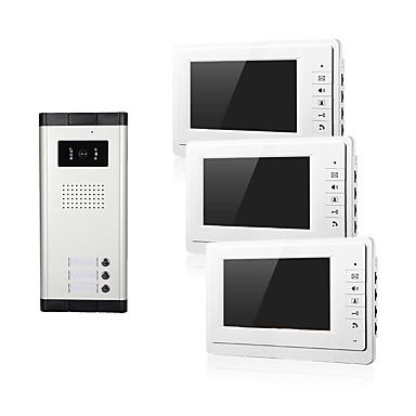lakás video kaputelefon kaputelefon kaputelefon kamera 7 hüvelykes monitor három család számára