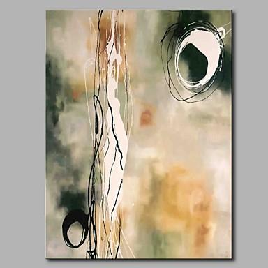 Hang festett olajfestmény Kézzel festett - Absztrakt Modern / kortárs Vászon