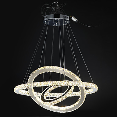 Dimmable Modern Crystal Chandeliers Indoor LED Pendant Lighting ...