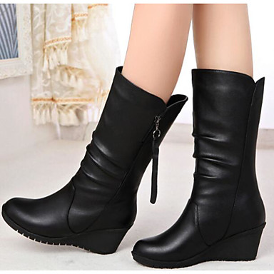 2904f3c8f1a Women's Nappa Leather Fall / Winter Fashion Boots Boots Flat Heel Booties / Ankle  Boots / Mid-Calf Boots Black 6300289 2019 – $19.99