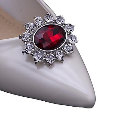 abordables Accessoires pour Chaussures-Métal Ornement Femme Mariage / Décontracté Rouge / Bleu / # Vin rouge (anti-rides) / Strass