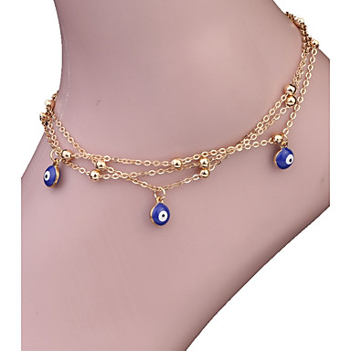 Anklet - Evil Eye Vintage, Bohemian, Fashion Gold For Gift / Casual / Women's