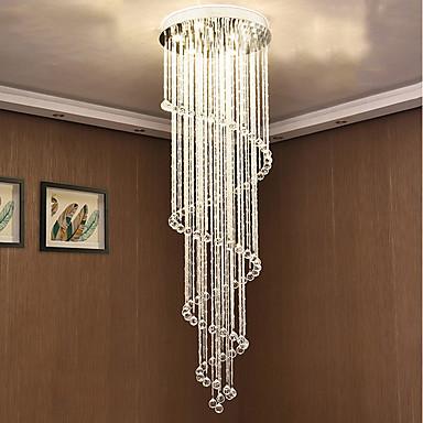 7-Light Chandelier Downlight - Crystal, Bulb Included, Designers, 110-120V / 220-240V, Warm White / Cold White, Bulb Included / GU10
