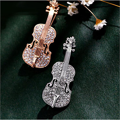 Men's Women's Brooches Rhinestone Rhinestone Alloy Gold Silver Jewelry For Wedding Party