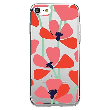 Case For Apple iPhone X iPhone 8 Pattern Back Cover Flower Soft TPU for iPhone X iPhone 8 Plus iPhone 8 iPhone 7 Plus iPhone 7 iPhone 6s