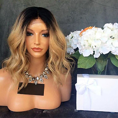 Remy Human Hair Lace Front Wig Brazilian Hair Body Wave Wig With Baby Hair 130% 100% Virgin Women's Short / Medium Length Human Hair Lace Wig