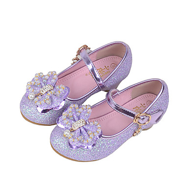 Meisjes Schoenen Synthetisch Lente Herfst Comfortabel Platte schoenen Kristal Kralen Pailletten Imitatieparel Sprankelend glitter Haak &