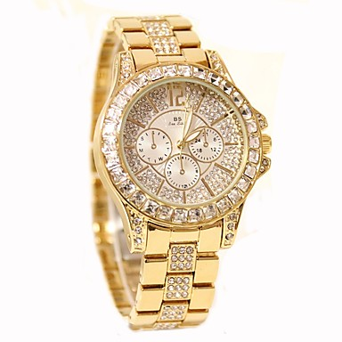 cheap Women's Watches-Women's Pave Watch Diamond Watch Gold Watch Quartz Stainless Steel Silver / Gold / Rose Gold 30 m Hot Sale Analog Ladies Charm Casual Fashion Bling Bling - Gold Silver Rose Gold
