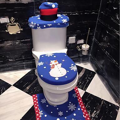 3 unids set productos de ba o de navidad decoraci n de for Decoraciones de navidad para el hogar