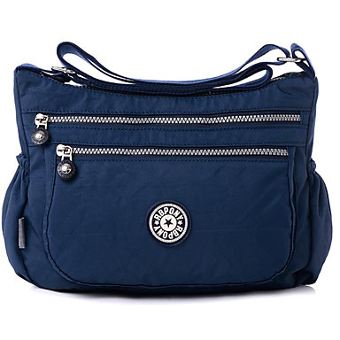 Women's Bags Polyester Crossbody Bag Zipper Dark Blue / Fuchsia / Light Purple