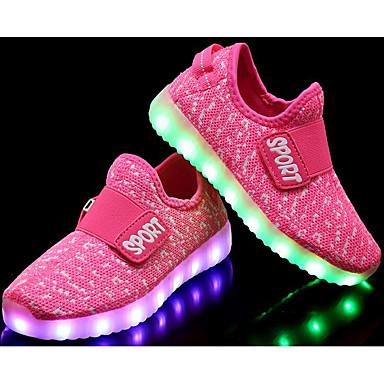 baratos Sapatos de Criança-Para Meninas Tule Tênis Little Kids (4-7 anos) / Big Kids (7 anos +) Conforto Vermelho / Azul / Rosa e Branco Outono