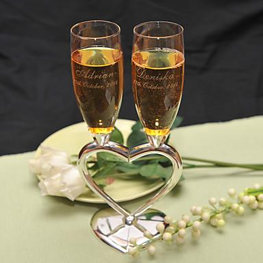 abordables Flûtes à Champagne-alliage de zinc Flûtes grillage Boîte à cadeau Mariage Toutes les Saisons