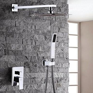 Shower Faucet - Modern / Contemporary Chrome Shower System / Brass