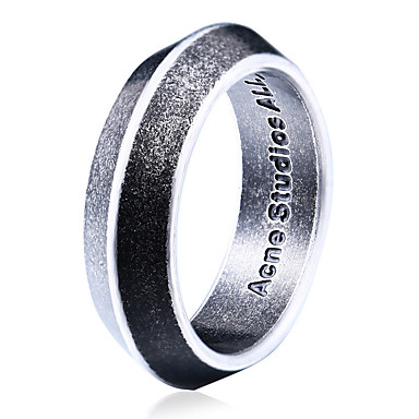 Men's Band Ring - Titanium Steel Personalized, Fashion 6 / 7 / 8 Silver For Daily / Casual